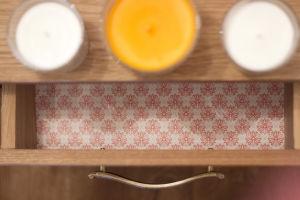 Mandalás fiókbelső gyertyákkal